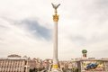 Stella with column at independence square in kiev ukraine Stock Photos