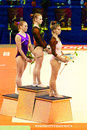 Stella zakharova cup in kyiv ukraine christina sankova the center chyllah tyunde hungary on the right and yana fedorova on the Stock Image