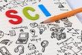 STEM education. Science Technology Engineering Mathematics. Royalty Free Stock Photo