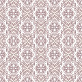Stems and flowers beautiful abstract seamless natural retro pattern with Royalty Free Stock Photos