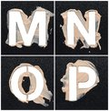 Stencil alphabet from cosmetic Royalty Free Stock Photo