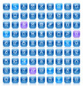Stencil blue buttons Royalty Free Stock Photo