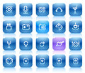 Stencil blue buttons for entertainment Royalty Free Stock Photo
