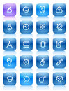 Stencil blue buttons for science Royalty Free Stock Photo