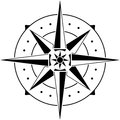 Stencil of compass Royalty Free Stock Photo