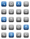 Stencil matt buttons for internet Royalty Free Stock Photo
