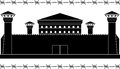 Stencil of prison vector illustration Royalty Free Stock Photos
