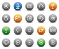 Stencil round buttons for entertaiment Royalty Free Stock Photo