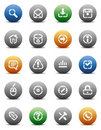 Stencil round buttons for internet Royalty Free Stock Photo