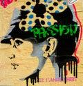 Stencil Street art Passion Portrait by Mr Farenheit Royalty Free Stock Photo