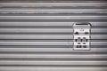Stenciled residential mailbox, Hong Kong Royalty Free Stock Photo