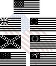 Stencils of american flags Stock Images