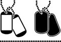 Stencils of dog tags vector illustration Royalty Free Stock Photos