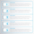 Step numbers options chek list business template infographic Stock Image