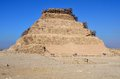 Step pyramid of Djoser in Saqqara Stock Photo