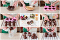 A Step by Step Collage of Making Easter Egg with Surprise Royalty Free Stock Photo