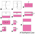 Step by step instructions how to make origami A Toothpick Case.