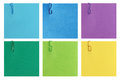 Step by step template isolated on white six steps background for instructions colorful post it notes with numbers to Stock Photo