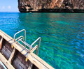 Step to snorkeling from long tail boat the south of thailand Stock Photos