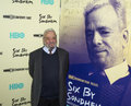 Stephen sondheim arrives on the red carpet for the new york premiere of the hbo bio documentary six by of the iconic Royalty Free Stock Photo