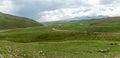 Steppe Kazakhstan, Trans-Ili Alatau, plateau Assy, Royalty Free Stock Photo