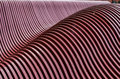 Stepped metal wave patterns Royalty Free Stock Photo
