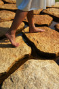 Stepping on Stones Royalty Free Stock Photo