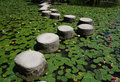 Stepping Stones, Heian-Jing Shrine Royalty Free Stock Photo