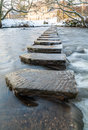 Stepping Stones - Lealholm - North Yorkshire - UK Royalty Free Stock Photo