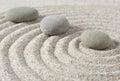 Stepping zen stones Royalty Free Stock Photo