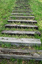 Steps In The Grass Royalty Free Stock Photo