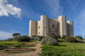Steps leading to the castel del monte in italy Stock Photos