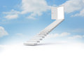 Steps leading to open door in the sky Stock Photo