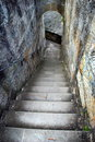 Steps in old castle Royalty Free Stock Photo