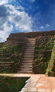 Steps and the ruins of the royal palace Sigiriya Royalty Free Stock Photography