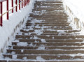 Steps in the snow Royalty Free Stock Photo