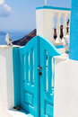 Steps in Thira, Santorini, Greece Royalty Free Stock Image