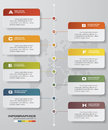 8 steps timeline infographic with global map background for business design Royalty Free Stock Photo