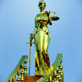 Steps to justice lady of is waiting judge Royalty Free Stock Photo