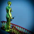 Steps to justice lady of is waiting kill Royalty Free Stock Images