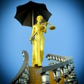 Steps to justice lady of is waiting kill Stock Photography