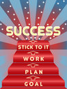 Steps to Success Image Royalty Free Stock Images
