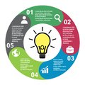 5 steps vector element in five colors with labels, infographic diagram. Business concept of 5 steps or options with light bulb