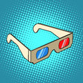 Stereo 3d glasses for cinema Royalty Free Stock Photo