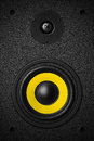Stereo music audio equipment bass sound speaker Royalty Free Stock Photo
