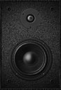 Stereo music audio equipment bass sound speaker, black sound speaker Royalty Free Stock Photo