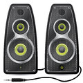 Stereo speaker set with metallic mesh Royalty Free Stock Photo
