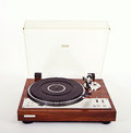 Stereo turntable vinyl record player analog retro vintage open Royalty Free Stock Photography