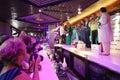 Sterren en cameralieden bij presentatie van lena lenina stars Royalty-vrije Stock Foto