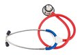 Stethoscope against white background symbol photo for the medical profession and diagnostics Royalty Free Stock Image
